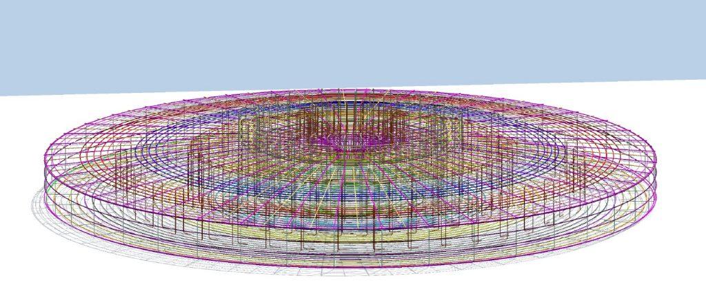 Zbrojenie konstrukcji fundamentu BIM 3D